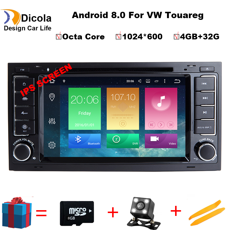 Octa CoreAndroid 8.0 1080P for VW/Volkswagen Touareg 2004 2011 Touareg car dvd player with Canbus Radio GPS Navigation Bluetooth