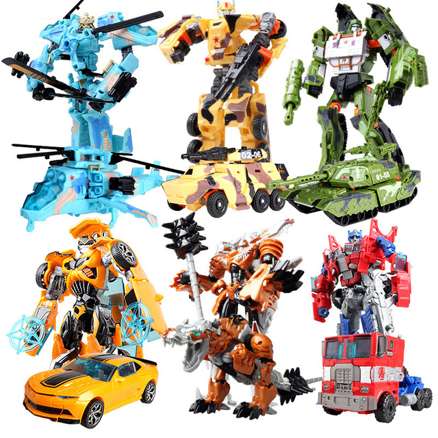 YUKALA Children Robot <font><b>Toy</b></font> <font><b>Transformation</b></font> Anime Series Action Figure <font><b>Toy</b></font> <font><b>2</b></font> Size Robot Car ABS Model Action Figure <font><b>Toy</b></font> for Child image
