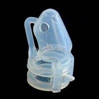 Male Chastity Belt Cock Ring Sex Toys For Men Vibrator New Pure Silicone Male Chastity Device Cage Bird Lock Silicon Silica Gel