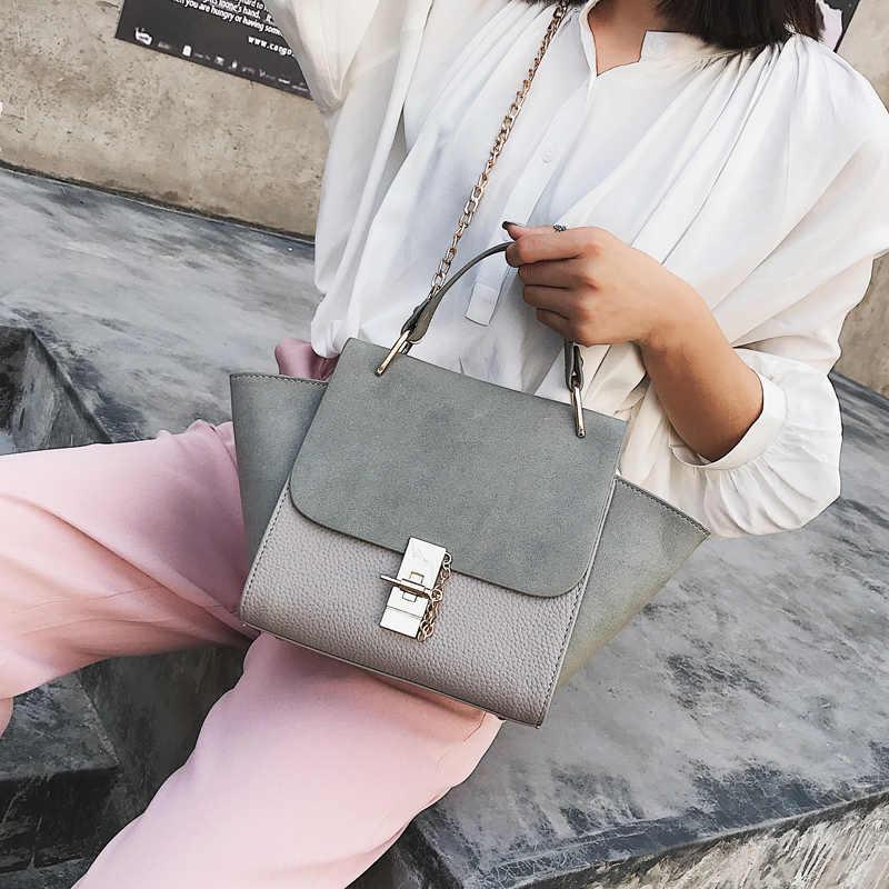 Estilo europeu moda feminina saco 2018 nova qualidade fosco couro do plutônio das mulheres designer bolsa senhoras grande ombro saco do mensageiro