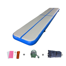 Inflatable Tumbling 5m Air Track Bouncy Mat Airtrack with Free Air Pump 600w Training Yoga Cheerleading Mattress for Home Use air track 5m inflatable olympics gymnastics mattress gym tumble yoga airtrack floor tumbling air track pink green free shipping