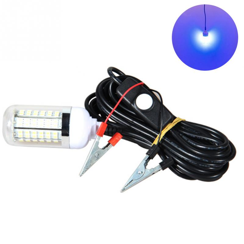 12 v 36 LED Glühbirne Unterwasser Tauch Nacht Angeln Licht Shad Köder Locken Tintenfisch Boot Lampe mit 5 mt IP67 Wasserdichte Lampe