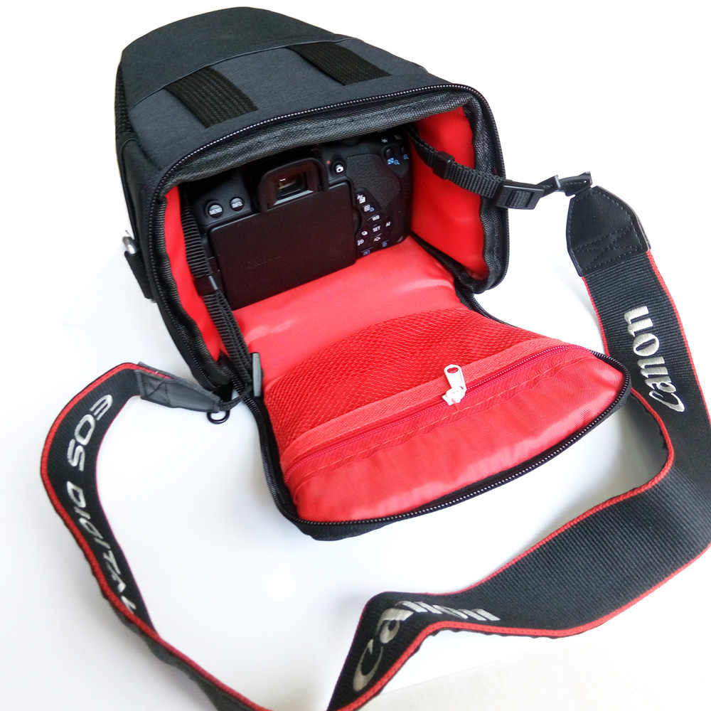 DSLR Túi Vai Túi Máy Ảnh Cho Nikon P1000 D3400 Canon EOS R 800D 80D Sony a7 iii a99 a77 Ống Kính pouch Nhiếp Ảnh Ảnh Trường Hợp