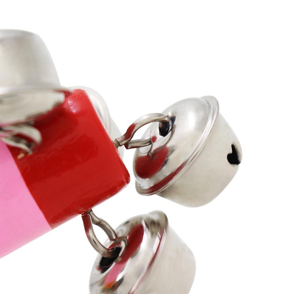 19 см деревянная Радужная трещотка ручной шейкер orff инструменты Детские погремушки детские игрушки случайного цвета