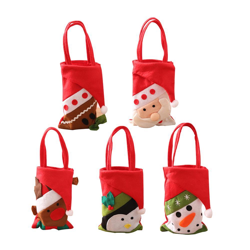 Christmas Tote Bag Christmas Decoration Christmas Eve Gift Bag Candy Storage Bag Holiday Supplies