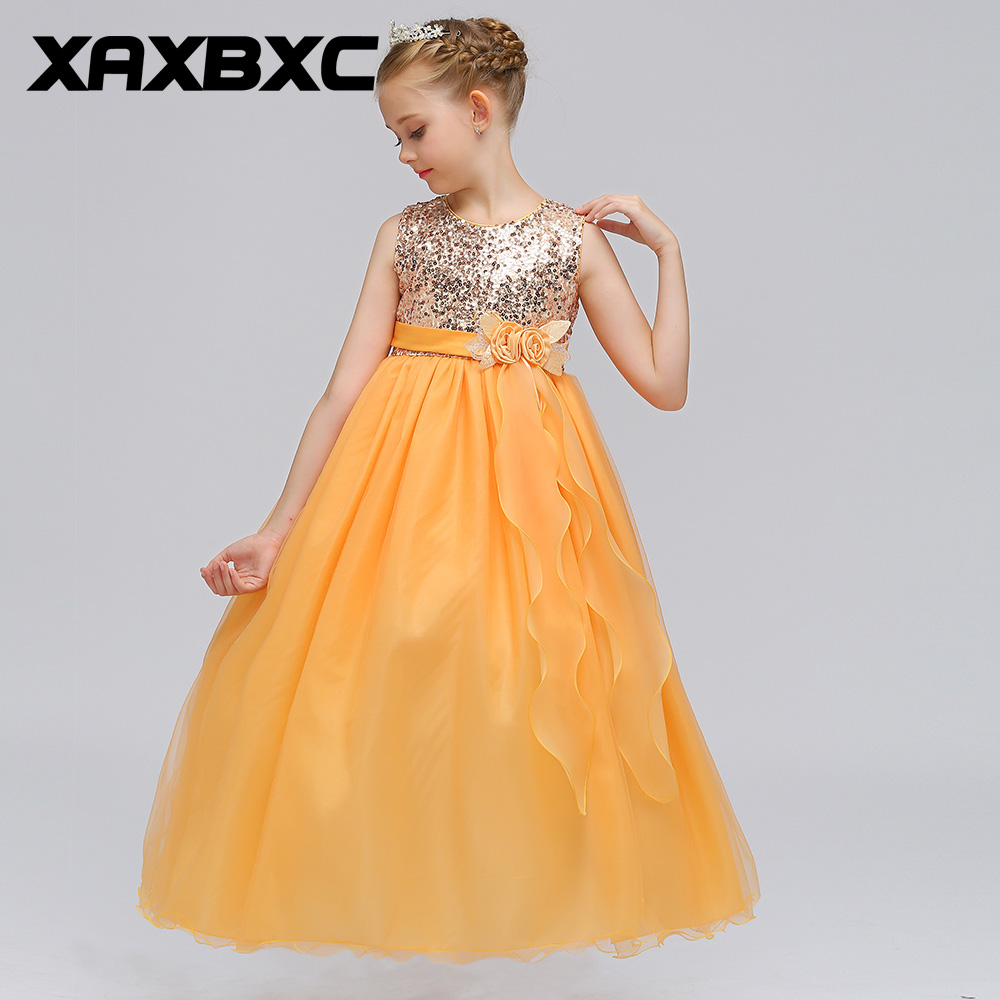 Blue Lace Princess Dresses Kids Prom Gown Evening Dresss Wedding Party Dress Girls Clothes Tulle Children's Costume LP-72 teenage girl party dress children 2016 summer flower lace princess dress junior girls celebration prom gown dresses kids clothes