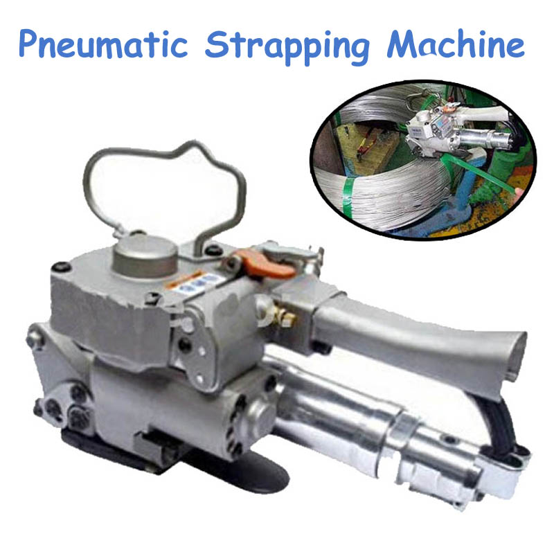 1pc Pneumatic Plastic Strapping Machine Banding Tool PET/ PP Width 13-19mm Carton Friction Packing Machine AQD-19