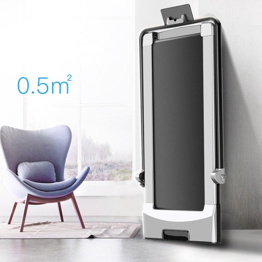 Foldable Electric Treadmill With Mini Handrail Electric Running Training Fitness Treadmill Intelligent Body Sensing Home Fitness