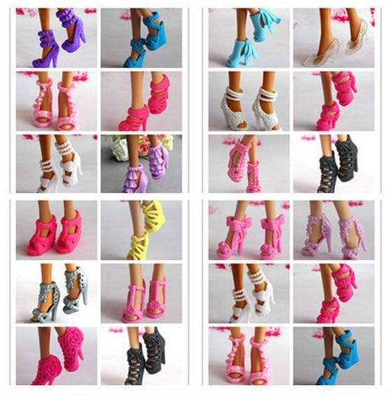 Regalos Hechos A Mano Para Ninas.7 29 Envio Gratis Zapatos Hechos A Mano Nina Regalo De Cumpleanos 15 Pares Zapatos De Muneca Estilo Mixto Zapatos De Colores Para Muneca Barbie In