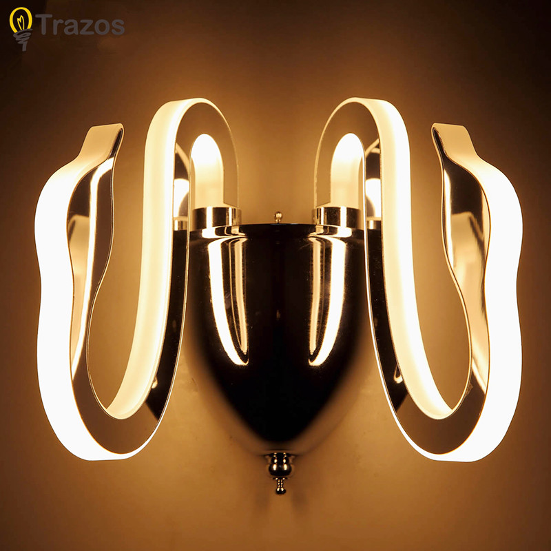 Modern LED Wall Lamp For Bathroom Bedroom 8W Wall Sconce White Indoor Lighting Lamp AC100-265V LED Wall Light Indoor Lighting ac 85 265v 8w cloud led wall lamp acrylic sconce mounted light for home interior lighting