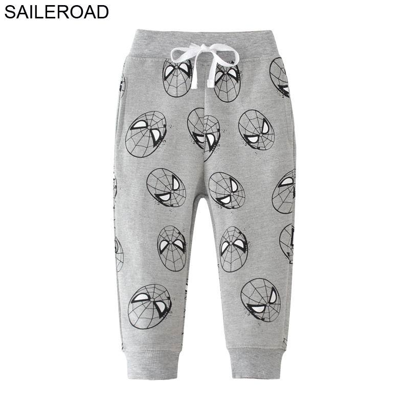 SAILEROAD 2-7Years Animal Pants for Boys Autumn Enfant Sports Boy Pants Cotton Pantalon Enfant Garcon Kids Pants Boys 1