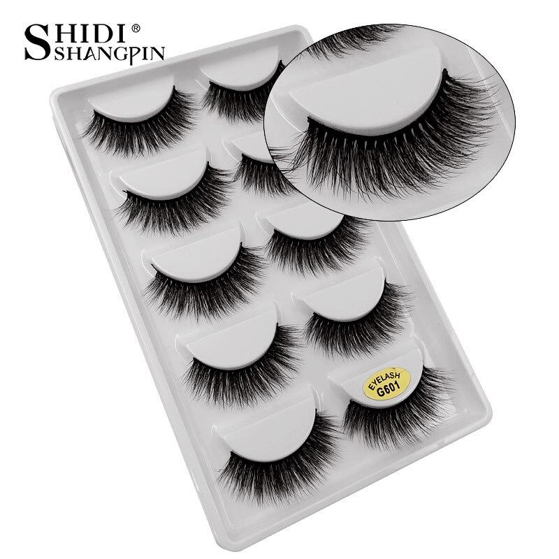 Mink eyelashes 5pairs handmade false eyelashes natural long eye lashes 3d mink lashes for makeups cilio lash maquiagem faux cils