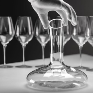 Image 5 - Original 1500ML Circle Joy Round Crystal Decanter Wine Decanter Crystal Glass Wine Pourer Wine Carafe Aerator