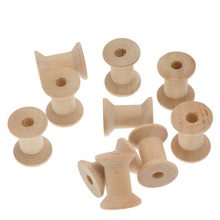 50Pcs/lot Natural Wood Cylinder Thread Spools Wooden Sewing Tool 28.7x23mm