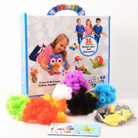 3D Puzzle DIY Puff Ball Squeezed Ball 400pcs Set Assemble Creative Thorn Ball Clusters Handmade Educational