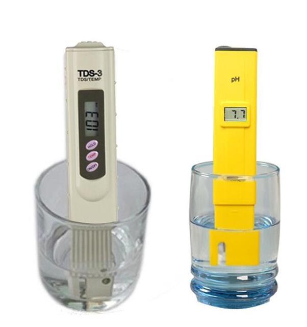 Digital PH Meter + TDS Tester Monitor Water Quality Measurement Tool Kit  For Aquarium Cosmetics Swimming
