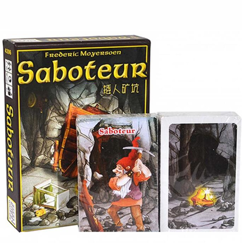 Saboteur English Version Card Game for 3-10 Players Board Game Gift for Children and Friends
