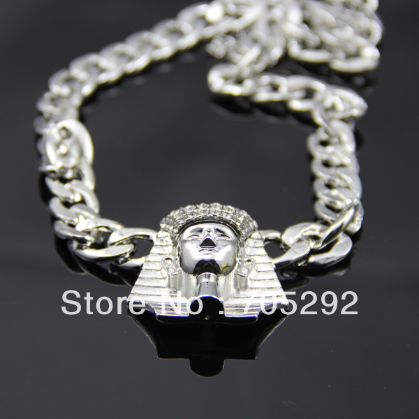 New iced out egyptian king tut pendant with cuban link chain new iced out egyptian king tut pendant with cuban link chain necklace in pendant necklaces from jewelry accessories on aliexpress alibaba group aloadofball Gallery