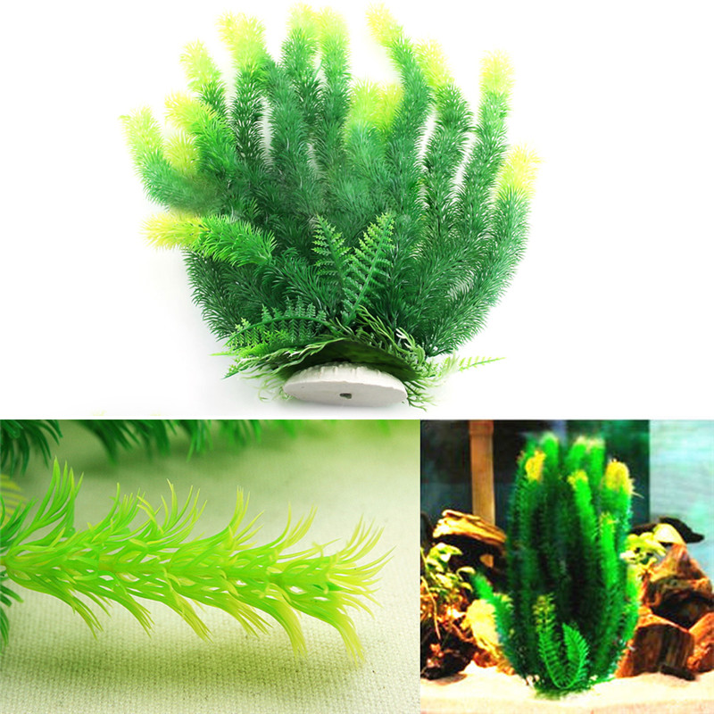 nuevo diseo verde artificial plstico vegetal hierba pecera acuario ornamento mainland
