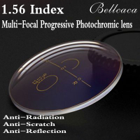 1 56 Index Aspheric Optical Multi Focal Progressive Photochromic Prescription Lens Myopia Glasses Anti Radiation 2