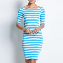 Round Neck Slim Bottoming Dresses Plus Size