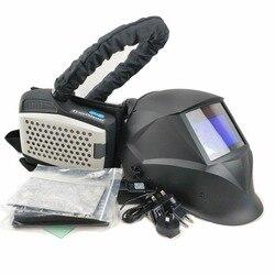 Сварочная маска с питанием от воздуха, Очищающий респиратор, самозатемняющийся сварочный шлем, индивидуальное защитное оборудование, пром...