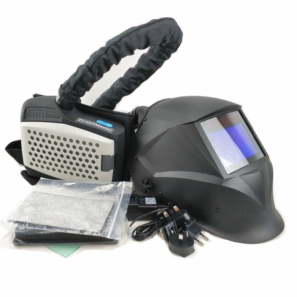 Masque de soudage alimenté respirateur purificateur d'air Auto assombrissement casque de soudage équipement de protection individuelle industrie PAPR Kit