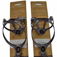 2 pièces offres spéciales porte-bidon en fibre de carbone porte-bouteille accessoires de vélo avec emballage finition mate 2 couleurs 16g