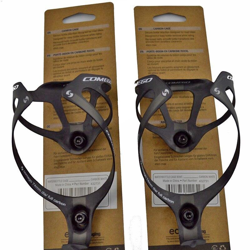 2 stücke heiße verkäufe volle carbon faser flasche käfig flasche halter fahrrad zubehör mit paket matte finish 2 farben 16g