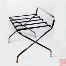Thick stainless steel luggage rack hotel folding shelf hotel room supplies home