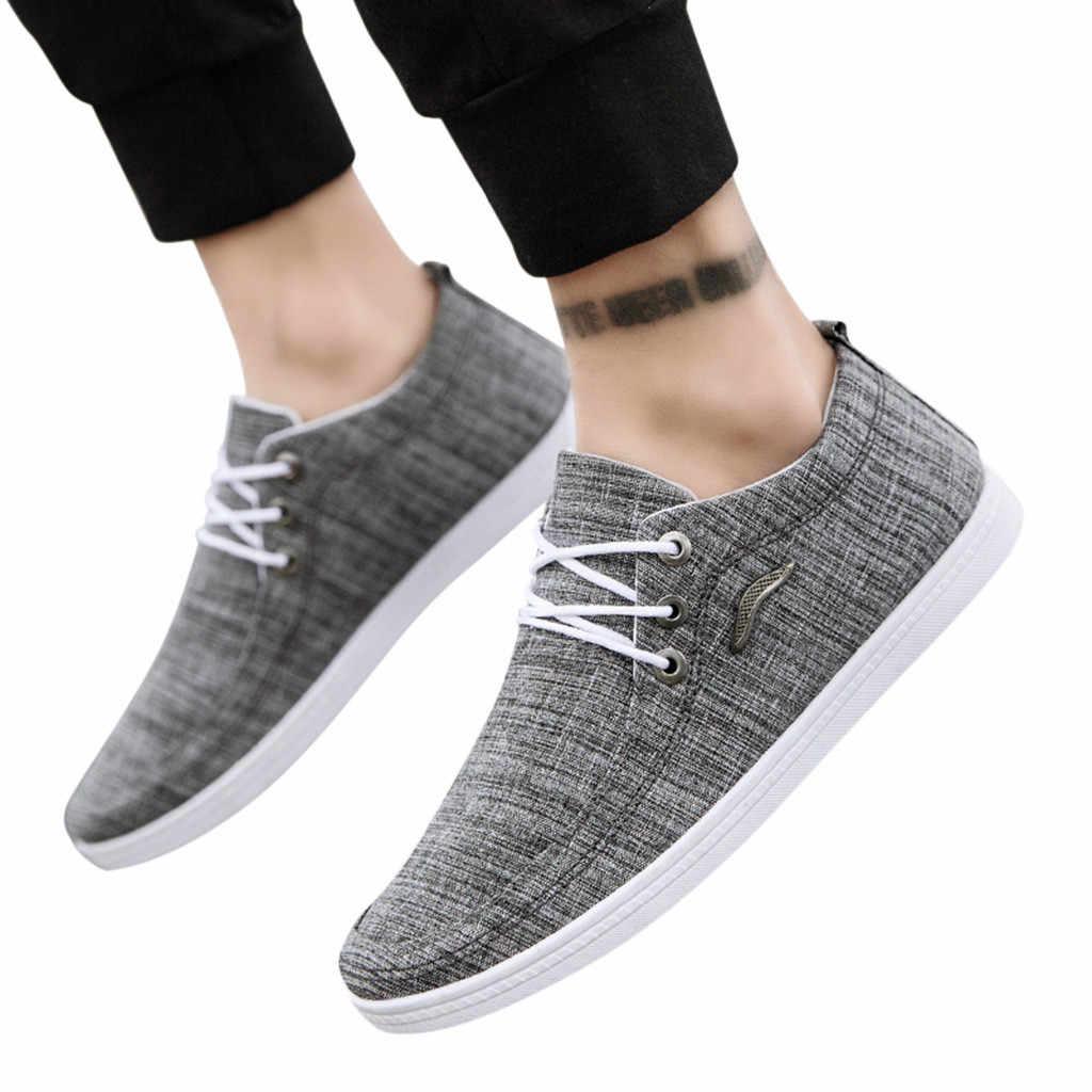Jaycosin shoes Men Casual Shoes 2019 3 color Canvas Fashion Slip-On Breathable Leisure Lazy Basic outsize Shoes