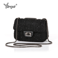 YBYT Brand 2016 New Fashion Joker Wool Plaid Flap Hotsale Ladies Winter Evening Bags Small Shoulder