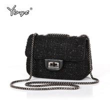 YBYT brand 2016 new fashion joker wool plaid flap hotsale ladies winter evening bags small shoulder messenger crossbody bags