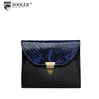ZOOLER Genuine Leather Women Wallets Clutch Bag Womens Wallets And Purses Fashion Style Short Silm Card