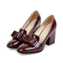 Big size Leather high heels pumps shoes for shemale & crossdressers
