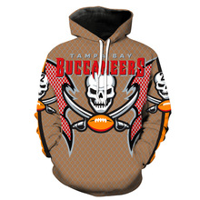 Asian Size Tampa Bay  Fashion Men women 3d Sweatshirts Print Stripped Hoody Hoodies With Cap Tops for Buccaneers gift