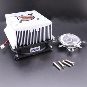 Image 4 - Disipador de calor de aluminio LED, ventilador de refrigeración de 100W + lente de 60 grados 90 grados 120degree44mm + Reflector Brack