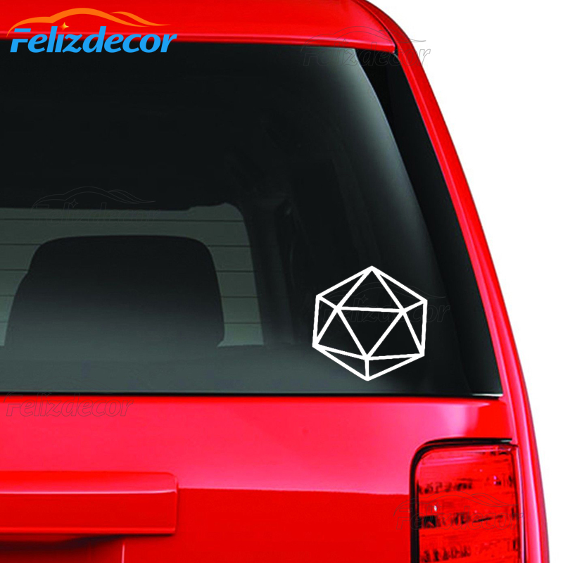 Automobiles & Motorcycles Icosahedron Decal Sacred Geometry Die-cut Car Stickers Truck Vinyl Decals Cool Decoration L616 Car Stickers