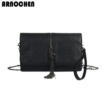 ARNOCHEN Fashion Envelope Women Bag 2018 PU Leather Day Clutches Women Messenger Bags Clutch Female Chain Shoulder Bags WYQ393