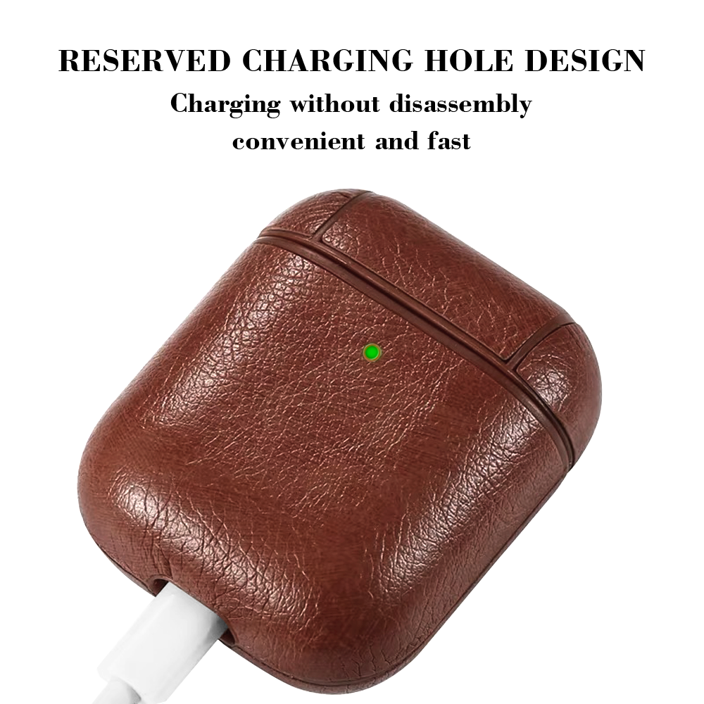 Protective Bag Leather Sleeve Cover Case Storage Earphone Portable For Apple AirPods Charging Box Case For AirPods Pro With Hook