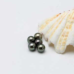 Image 5 - Natural Tahitian Black Pearl Beads for jewelry making 12 13MM,Round Peacock Green Big Loose Beads, DIY pearl disperse seeds