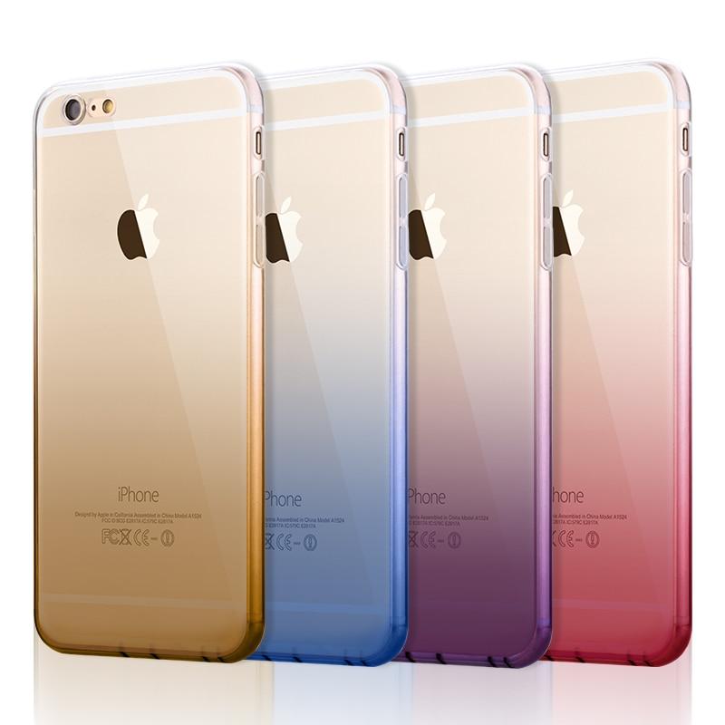 New Cute Gradient Case For Iphone 6 6s 47 6 Plus 6s Plus 55