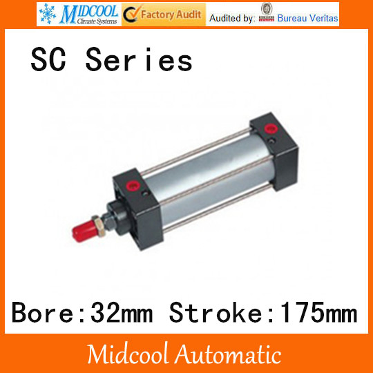 SC series standard Adjustable cylinder SC32*175 single rod double-acting air compressor piston hydraulic cylinder sc series standard adjustable cylinder sc125 125 single rod double acting air compressor piston hydraulic cylinder