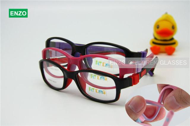 Niños Niñas Gafas Tamaño 50/17 Sin Tornillo Flexible, de silicona Flexible Estudiante Adolescente Vidrios Ópticos, Marco de Las Lentes del Cabrito de los niños