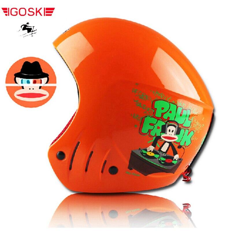 Casque de ski enfant ABS CE certificat enfants ski open face casque skate ski casques snowboard sport protection de la tête