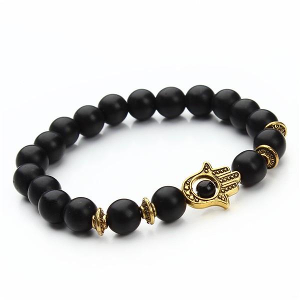 1-pcs-Nature-8mm-Black-Lava-Energy-Stone-Beads-Bracelet-Gold-Hamsa-Hand-Charm-Bracelet-Yoga (6)