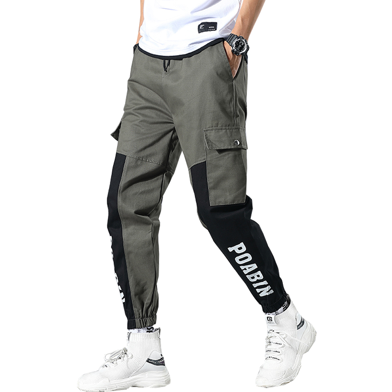 2019 Autumn Military Men Cargo Fitness Pant Tactical Streetwear Pant Ankle-Length Casual Camo Trousers ABZ441