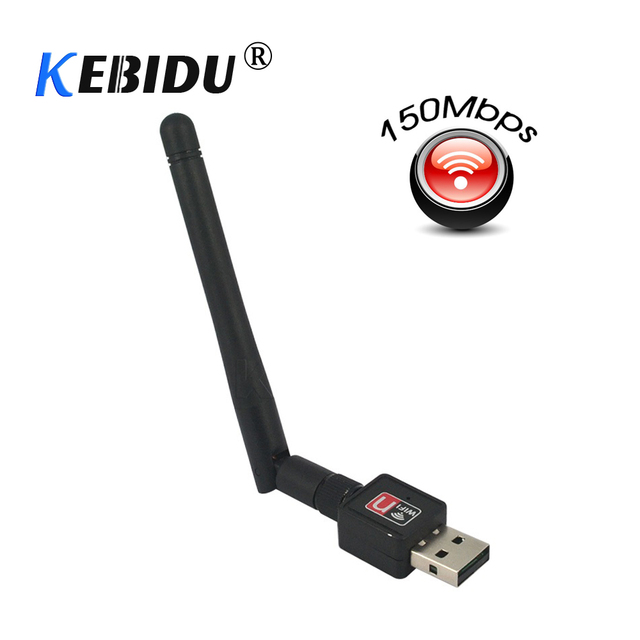 kebidu USB wi-fi Wifi Router PC wifi adapter 150M USB WiFi antenna Wireless Computer Network Card 802.11n/g/b LAN with Antenna
