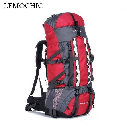 Alta calidad gran capacidad 100L montañismo deportes viaje bolsas deportes al aire libre Camping senderismo escalada hombre mochila