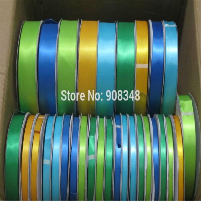 """3/8 """"9mm 100% polyester doppelseitig satinband einfarbig satinband für geschenk haarband beugt band kleidungsstücke zubehör-in Bänder aus Heim und Garten bei  Gruppe 3"""